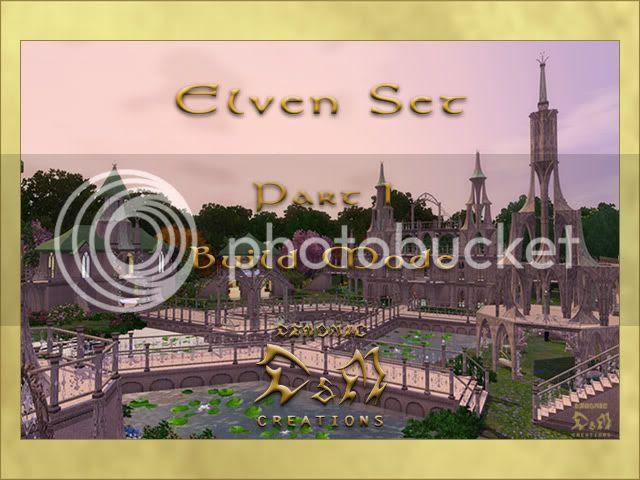 Elven Set. Part I: Build Mode. D&M Creations - Demonic. Sims 3.