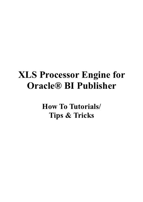 XLS PE How To Tutorials Tips & Tricks