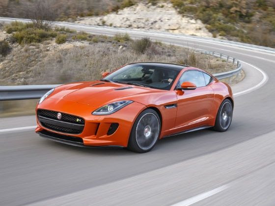 Jaguar F-Type R Coupe review action shot