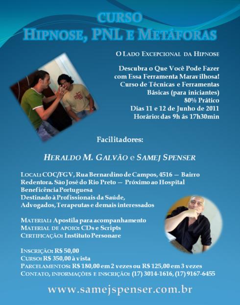 Curso de Hipnose, PNL e Metáforas