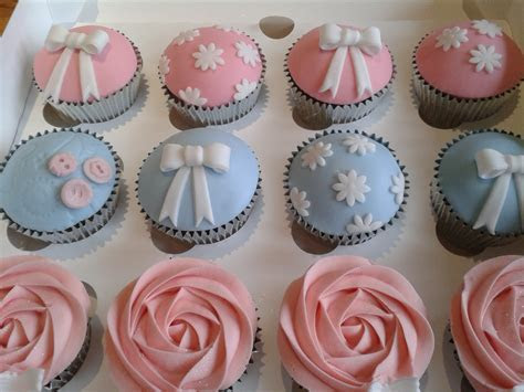 Pastel pink and blue cupcakes   The Dotty Bakery