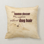 dog lovers quote pillow sepia shabby chic style