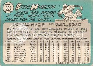 #309 Steve Hamilton (back)