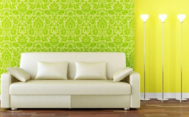 Living Room Decorating Ideas with Green White Color Schemes ...