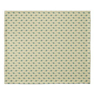 Signature Turquoise Abstract Dots Pattern Duvet Cover