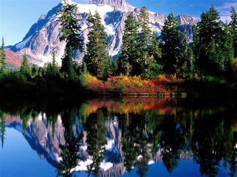 nature mountain lake reflection landscape hd wallpaper