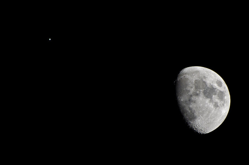 The Conjunction of the Moon and Jupiter