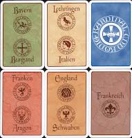 Ukázka všech typů karet