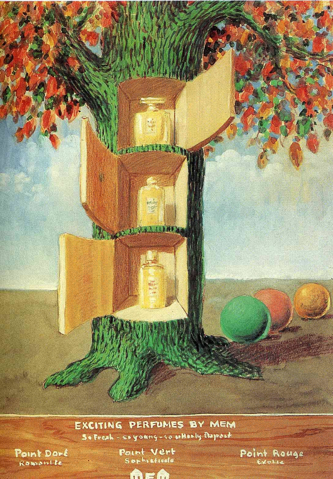Poster - Exciting perfumes by Mem, 1946 Rene Magritte