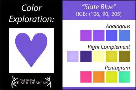 Eva Maria Keiser Designs: Explore Color: Slate Blue