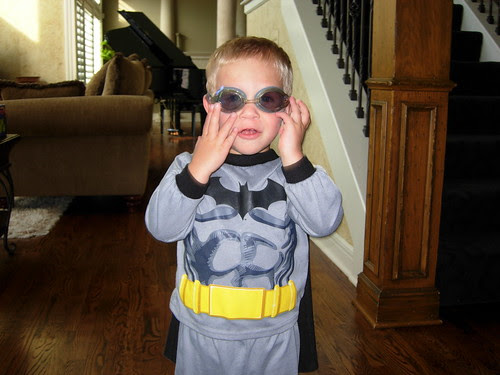 Who says Batman doesn't wear goggles?