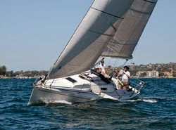 J/124 sailing off Sydney, Australia in Royal Sydney Yacht Squadron Cruise