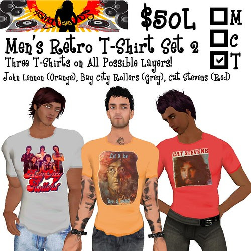 HTDJ! Men's Retro T-Shirts Set 2_Ad