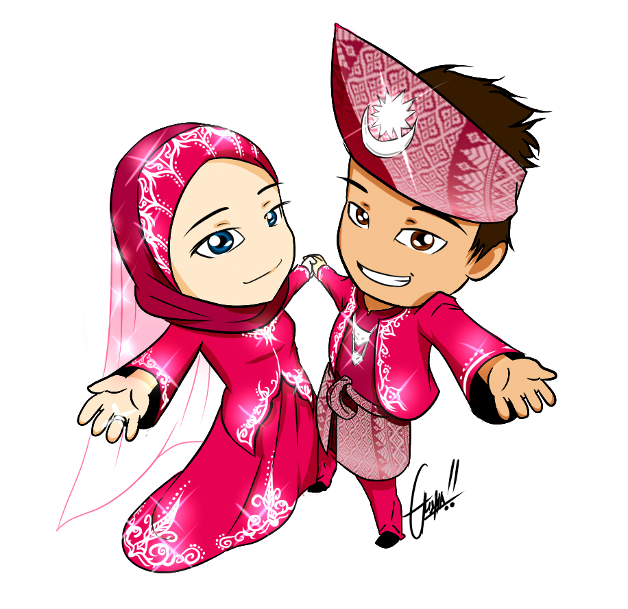 Download 670  Gambar Animasi Orang Nikah HD Terbaru