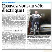 Parisien 31 mai 2014- vélos electriques