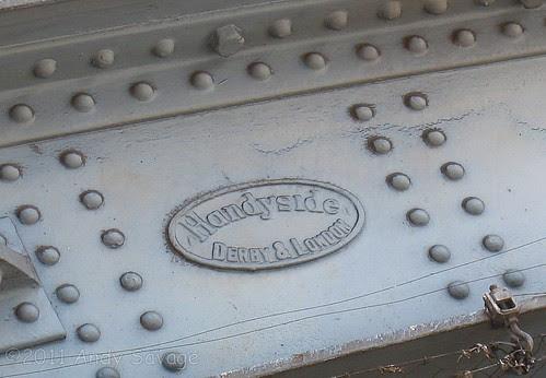 Handyside badge on Tower Bridge Road Railway Bridge