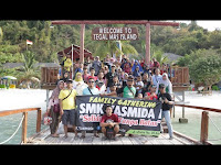 Family Gathering SMK Yasmida Ambarawa ke Pulau Tegal Mas - Lampung
