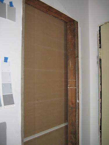 new hall closet drywalled