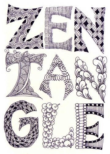 1000+ images about Zentangle letters on Pinterest | Letter w ...