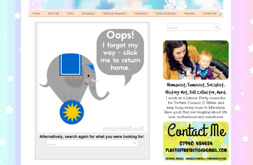 Babi a Fi 404 error page