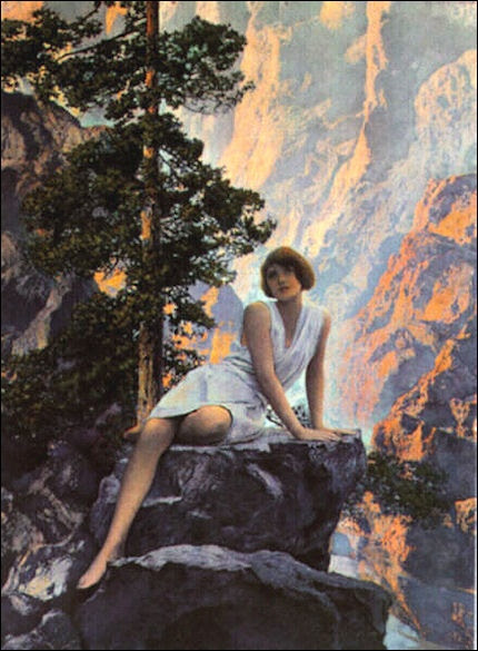maxfield parrish waterfall - Google Search