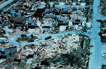 The aftermath of Hurricane Andrew in the Miami...