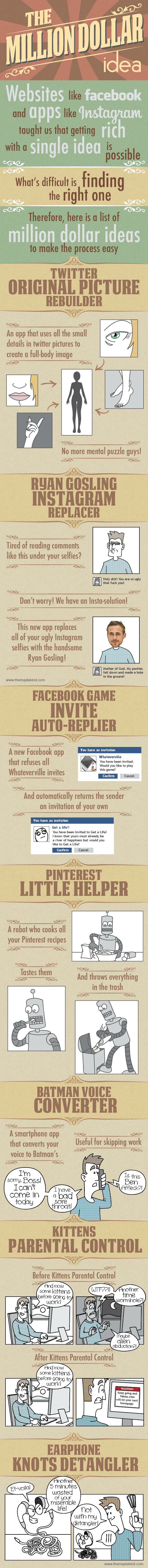 How to Get Rich for apps developer - The Million Dollar Ideas to make money - [funny #Infographic]