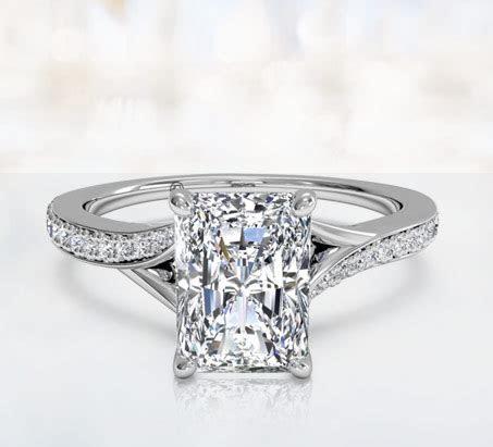 Rectangle Cut Diamond Ring   Wedding, Promise, Diamond