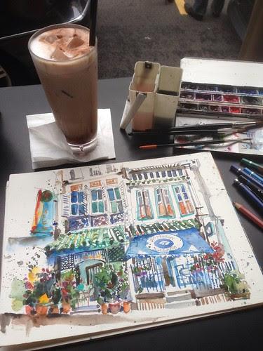 Sketching at ClubStreet by PaulArtSG