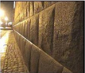 Vitrified Joints on a Wall in Cuzco