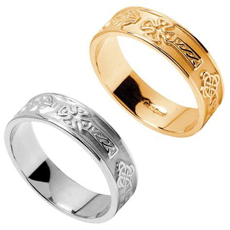 Claddagh Ring   Men's Claddagh Extra Wide Wedding Band at