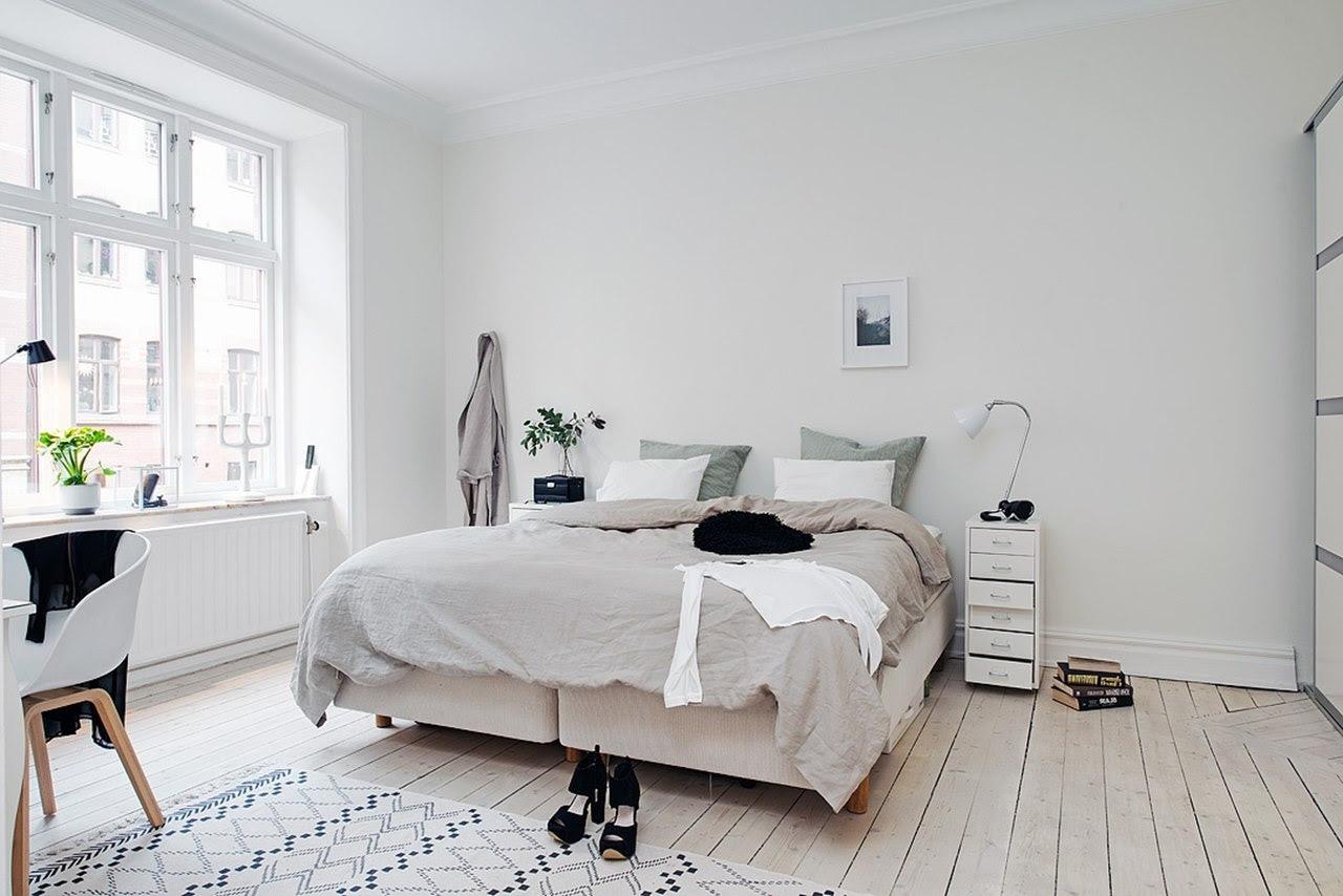 Bedroom design in Scandinavian style The Scandinavians love wood
