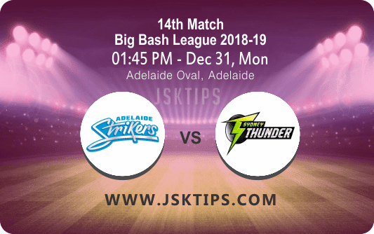 Cricket Betting Tips – Strikers Vs Thunder 14th Match