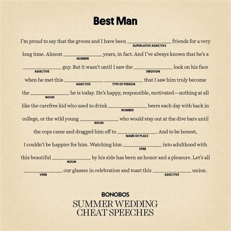 writing a best man speech for brother   Speech writing