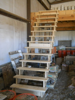 Barn Loft Stairs Steps in Place