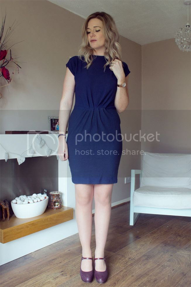 next navy crepe dress