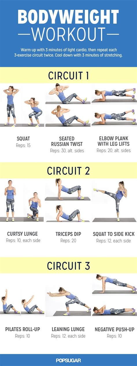 bodyweight workout  women popsugar fitness australia