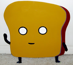 Mr Toast wood cut out