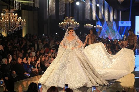 Yosra El Lozy Models Most Expensive Wedding Dress in The