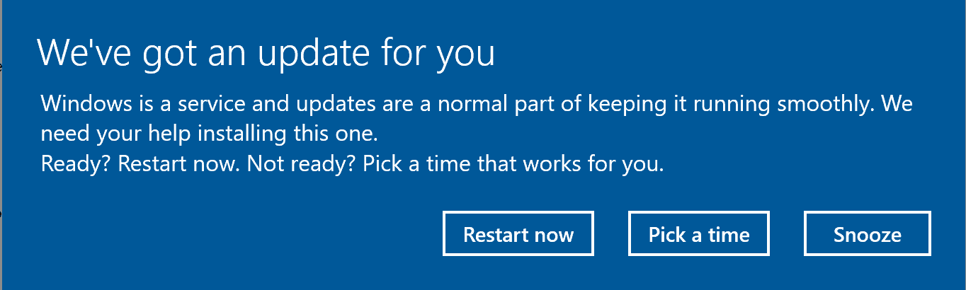 windows update prompt schedule