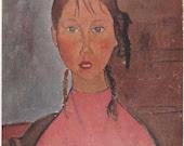 Girl in Pink by Modigliani Art Plate