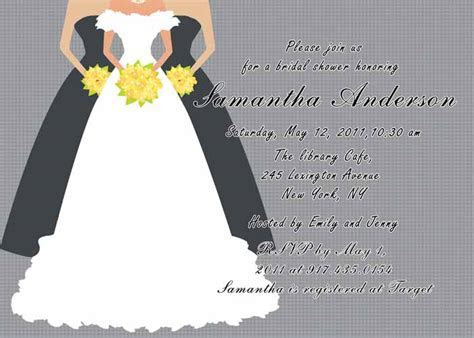 Printable grey bridal shower invitation cards EWBS019 as