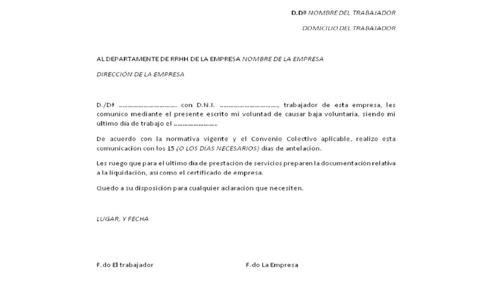 Carta De Despido Con Justa Causa Colombia T Carta De