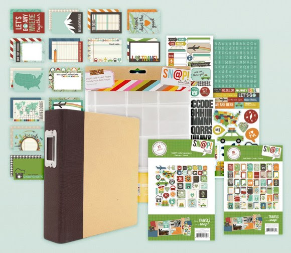 Simple Stories travel album and pocket inserts