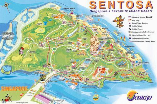 Карта на Сентоса