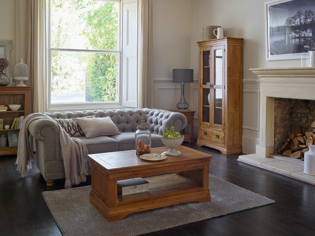French Farmhouse Living Room - Rustic - Living Room - by ...