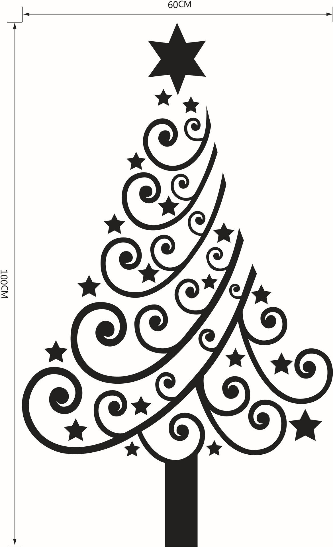 Black And White Christmas Tree Drawing At Getdrawings Free Download