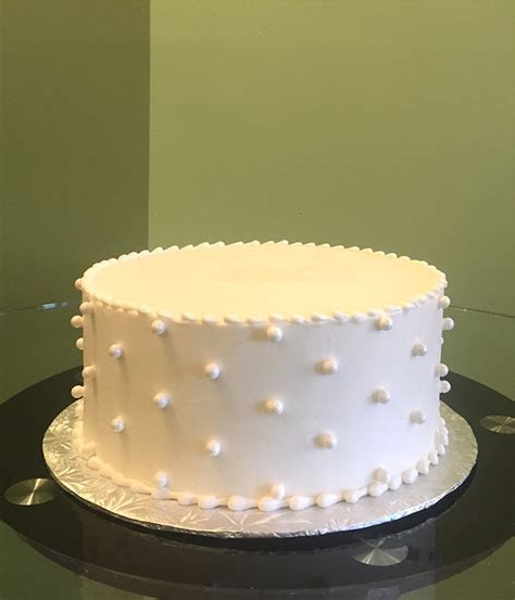 Sugar Pearl Button Layer Cake ? Classy Girl Cupcakes