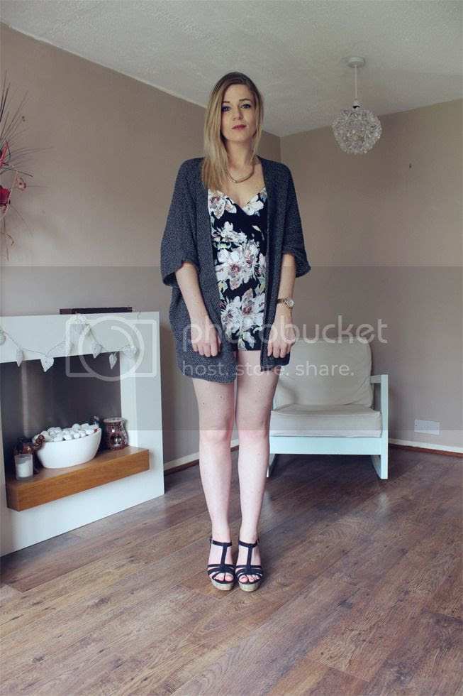 festival fashion boohoo playsuit cardigan outfit