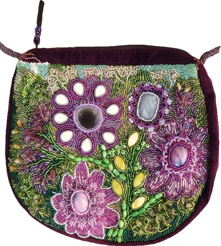 floral beaded bag